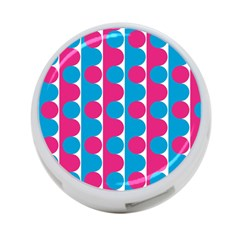 Pink And Bluedots Pattern 4-Port USB Hub (Two Sides)