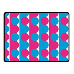 Pink And Bluedots Pattern Fleece Blanket (Small)