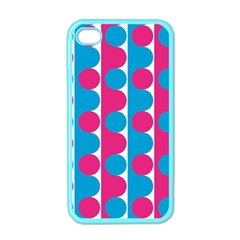 Pink And Bluedots Pattern Apple iPhone 4 Case (Color)