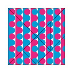 Pink And Bluedots Pattern Acrylic Tangram Puzzle (6  x 6 )