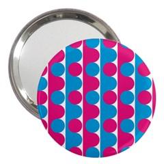 Pink And Bluedots Pattern 3  Handbag Mirrors