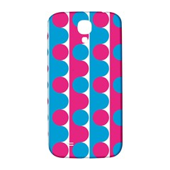 Pink And Bluedots Pattern Samsung Galaxy S4 I9500/I9505  Hardshell Back Case