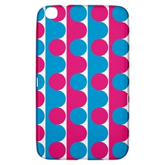 Pink And Bluedots Pattern Samsung Galaxy Tab 3 (8 ) T3100 Hardshell Case