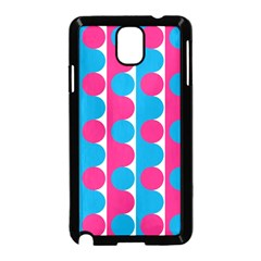 Pink And Bluedots Pattern Samsung Galaxy Note 3 Neo Hardshell Case (Black)