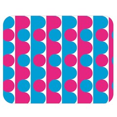 Pink And Bluedots Pattern Double Sided Flano Blanket (Medium)