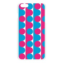 Pink And Bluedots Pattern Apple Seamless iPhone 6 Plus/6S Plus Case (Transparent)