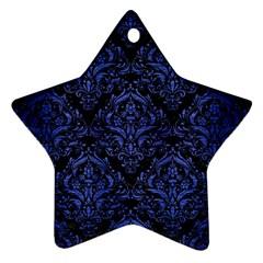 DMS1 BK-MRBL BL-BRSH Star Ornament (Two Sides)