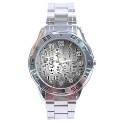 Science Formulas Stainless Steel Analogue Watch