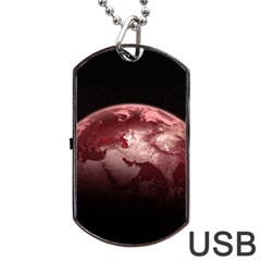Planet Fantasy Art Dog Tag USB Flash (One Side)