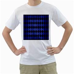 DIA1 BK-MRBL BL-BRSH Men s T-Shirt (White) (Two Sided)