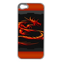 Dragon Apple iPhone 5 Case (Silver)