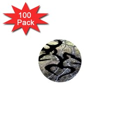 Black Love Browning Deer Camo 1  Mini Buttons (100 pack)