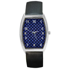 CIR3 BK-MRBL BL-BRSH (R) Barrel Style Metal Watch