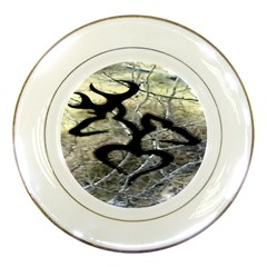 Black Love Browning Deer Camo Porcelain Plates