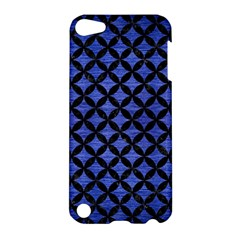 Circles3 Black Marble & Blue Brushed Metal (r) Apple Ipod Touch 5 Hardshell Case