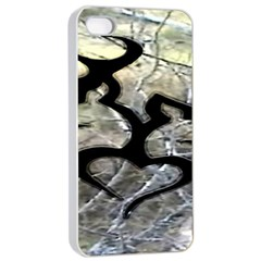 Black Love Browning Deer Camo Apple iPhone 4/4s Seamless Case (White)
