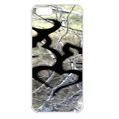 Black Love Browning Deer Camo Apple iPhone 5 Seamless Case (White)