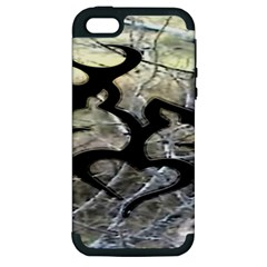 Black Love Browning Deer Camo Apple iPhone 5 Hardshell Case (PC+Silicone)