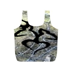 Black Love Browning Deer Camo Full Print Recycle Bags (S)