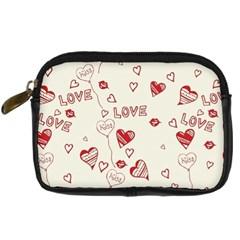 Pattern Hearts Kiss Love Lips Art Vector Digital Camera Cases