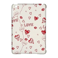 Pattern Hearts Kiss Love Lips Art Vector Apple iPad Mini Hardshell Case (Compatible with Smart Cover)