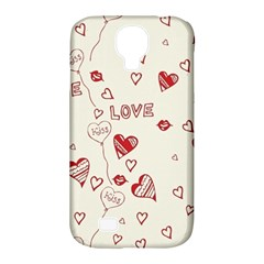 Pattern Hearts Kiss Love Lips Art Vector Samsung Galaxy S4 Classic Hardshell Case (PC+Silicone)