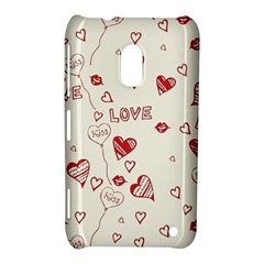 Pattern Hearts Kiss Love Lips Art Vector Nokia Lumia 620