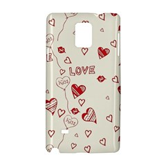 Pattern Hearts Kiss Love Lips Art Vector Samsung Galaxy Note 4 Hardshell Case