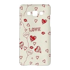 Pattern Hearts Kiss Love Lips Art Vector Samsung Galaxy A5 Hardshell Case