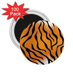 Tiger Skin Pattern 2.25  Magnets (100 pack)