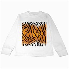 Tiger Skin Pattern Kids Long Sleeve T-Shirts