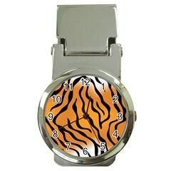 Tiger Skin Pattern Money Clip Watches