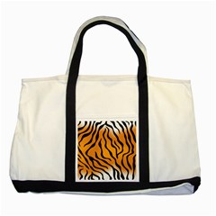 Tiger Skin Pattern Two Tone Tote Bag