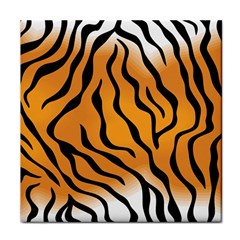 Tiger Skin Pattern Face Towel