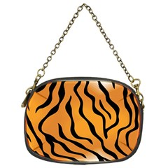 Tiger Skin Pattern Chain Purses (One Side)