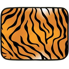 Tiger Skin Pattern Double Sided Fleece Blanket (Mini)