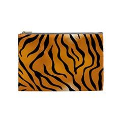 Tiger Skin Pattern Cosmetic Bag (Medium)
