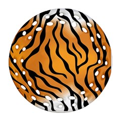 Tiger Skin Pattern Round Filigree Ornament (Two Sides)