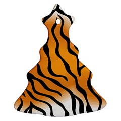 Tiger Skin Pattern Christmas Tree Ornament (Two Sides)