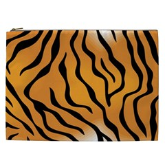Tiger Skin Pattern Cosmetic Bag (XXL)