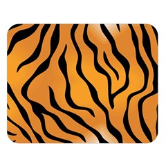 Tiger Skin Pattern Double Sided Flano Blanket (Large)