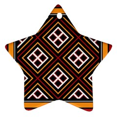 Toraja Pattern Pa re po  Sanguba ( Dancing Alone ) Ornament (Star)