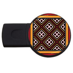 Toraja Pattern Pa re po  Sanguba ( Dancing Alone ) USB Flash Drive Round (1 GB)