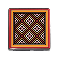 Toraja Pattern Pa re po  Sanguba ( Dancing Alone ) Memory Card Reader (Square)