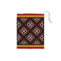 Toraja Pattern Pa re po  Sanguba ( Dancing Alone ) Drawstring Pouches (Small)