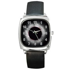 Solar Eclipse Square Metal Watch