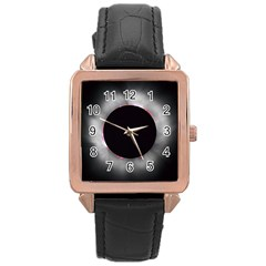 Solar Eclipse Rose Gold Leather Watch
