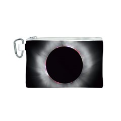 Solar Eclipse Canvas Cosmetic Bag (S)