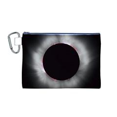 Solar Eclipse Canvas Cosmetic Bag (M)