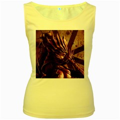 Fantasy Art Legend Of The Five Rings Fantasy Girls Women s Yellow Tank Top